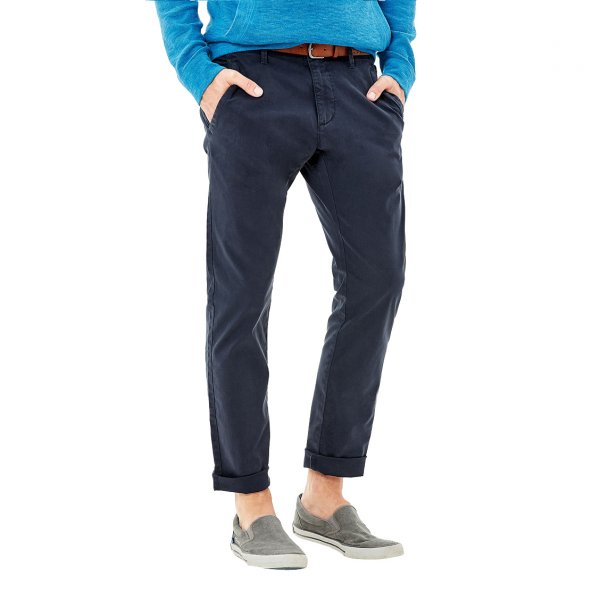 Pantalon slim fit S Oliver en coton stretch bleu marine