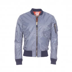 Bomber Jktac Schott NYC American College army gris