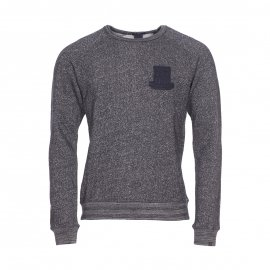 Sweat col rond Scotch & Soda en coton gris chiné