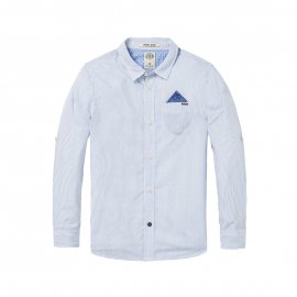 Chemise Scotch & Soda Junior en coton à rayures bleues