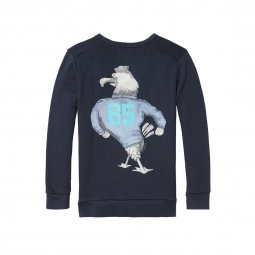 Sweat col rond Scotch & Soda Junior bleu marine à imprimé