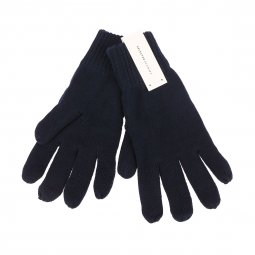 Gants Selected en coton bleu marine
