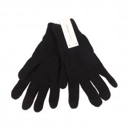 Gants Selected en coton noir