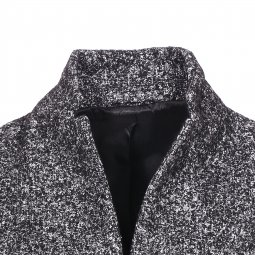 Manteau Selected noir chiné en laine mélangée