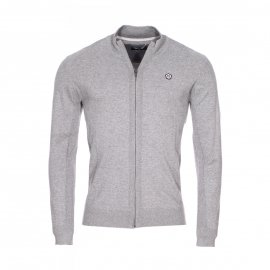 Gilet zippé en mailles Geiro Teddy Smith gris