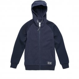 Sweat zippé à capuche Teddy Smith Junior Garmer bleu marine