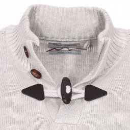 Pull col boutonné Parbour Teddy Smith gris clair chiné