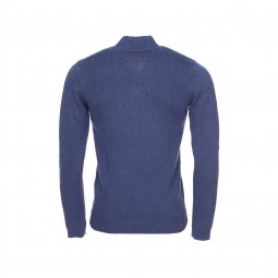 Pull col boutonné Parbour Teddy Smith bleu marine chiné