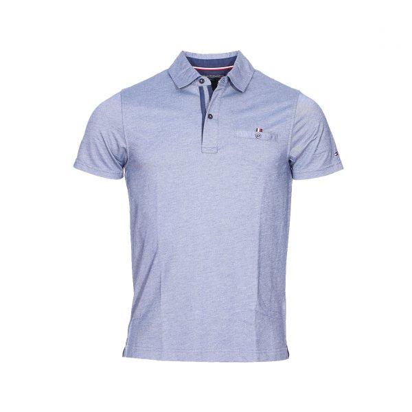 Polo Tommy Hilfiger bleu jean modèle Ronan