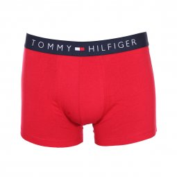Lot de 3 boxers Tommy Hilfiger en coton stretch bleu indigo, bordeaux et à carreaux