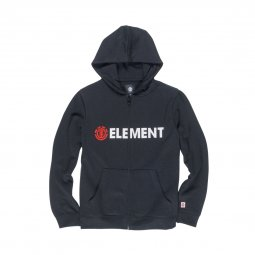 Sweat à capuche zippé Element Junior Blazin Zip en coton noir