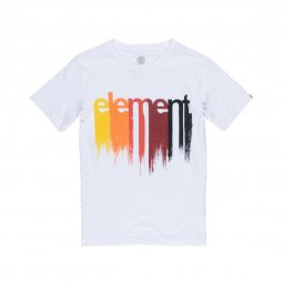 Tee-shirt col rond Element Junior Drip en coton blanc floqué