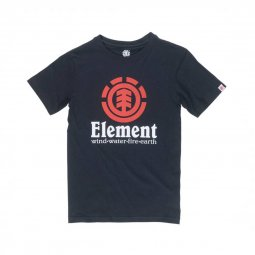 Tee-shirt col rond Element Junior Vertical en coton noir floqué du logo
