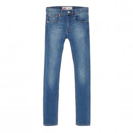 Jean skinny Levi's Junior 510 en coton stretch bleu denim