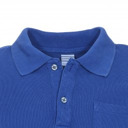 Polo Scotch & Soda Junior en piqué de coton bleu roi