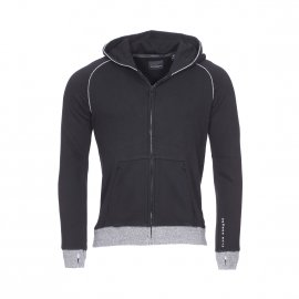 Sweat zippé à capuche Scotch & Soda Junior Club Nomade en coton noir