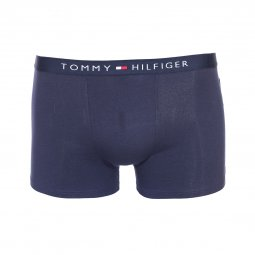 Lot de 2 boxers Tommy Hilfiger Junior en coton stretch bleu marine et à carreaux rouges, blancs et bleu marine
