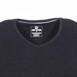 f559e0b9cb8f ... Lot de 2 tee-shirts col V Athena en jersey de coton stretch noir