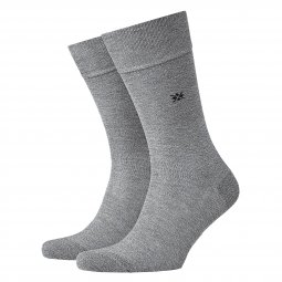 Chaussettes Dublin Burlington en coton stretch gris chiné