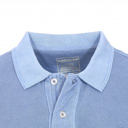 Polo Dockers Garment Dye Sunset Blue en maille piquée bleue