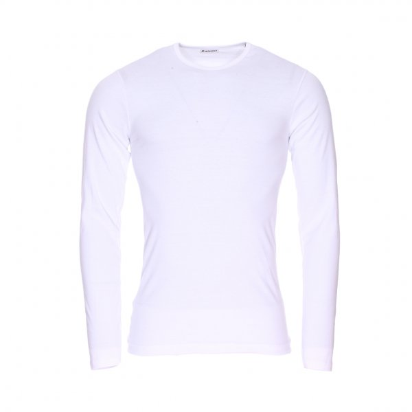 Tee-shirt manches longues col rond Eminence en coton blanc