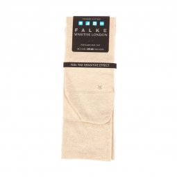 Chaussettes Falke Sensitive London en coton peigné stretch sable chiné