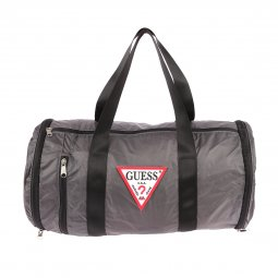 Sac polochon rétractable Guess en toile gris anthracite