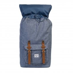 Sac à dos Little America 25 L Herschel bleu chambray à sangles marron à compartiment ordinateur 15 pouces