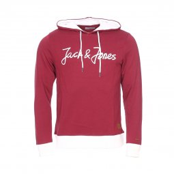 Sweat à capuche Jack & Jones Jorlegend en coton bordeaux