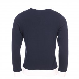 Sweat col rond Jack & Jones Jorlegend en coton bleu marine