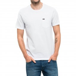 Tee-shirt col rond Lee Pocket en coton blanc