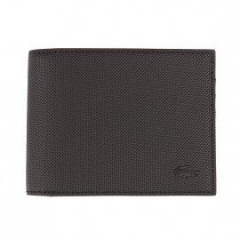 Porte-passeport européen 2 volets Lacoste Fitzgerald en cuir noir Mqe9UBPyt3
