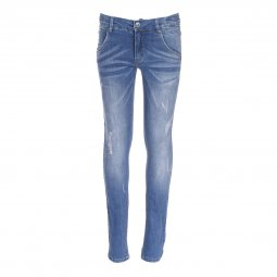 Jean slim Name it en coton stretch bleu medium, effet usé