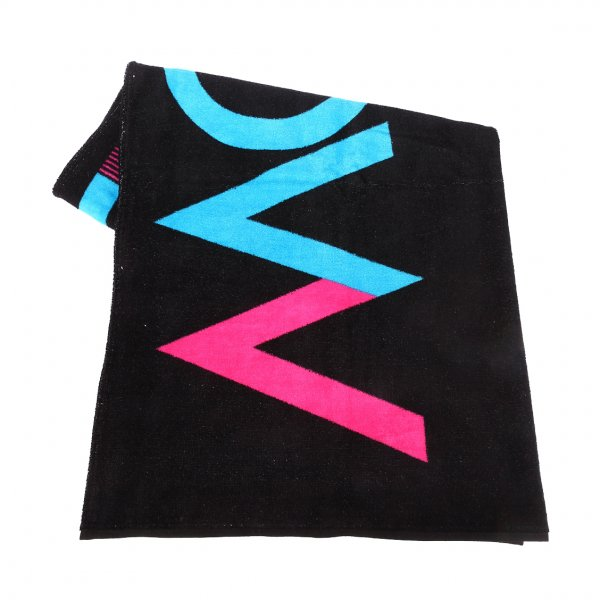 serviette de plage oxbow inalto en coton noir imprim rue des hommes. Black Bedroom Furniture Sets. Home Design Ideas