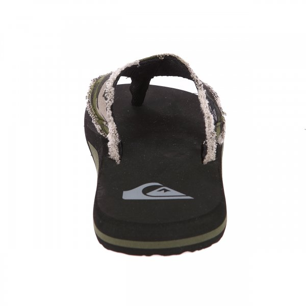 Tongs Quiksilver Monkey Abyss noires et camouflage