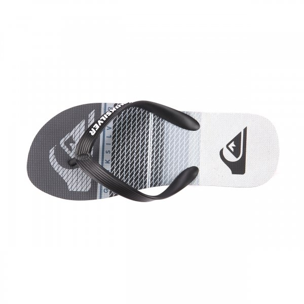 Tongs Quiksilver Molokai Highline Slab noires, grises et blanches