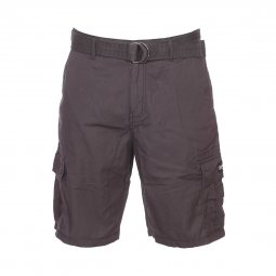 Short Quiksilver Rogue Beats en coton gris anthracite à ceinture