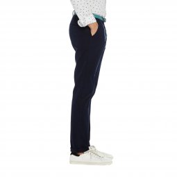 Pantalon Chino Scotch & Soda Classic Garment en coton stretch bleu marine