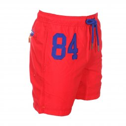 Short de bain Superdry Waterpolo rouge
