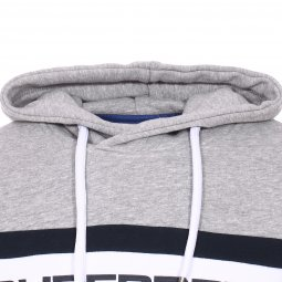Sweat à capuche Superdry Trophy Chest Band en coton mélangé gris chiné