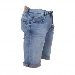 Bermuda Teddy Smith Scotty en jean bleu indigo clair