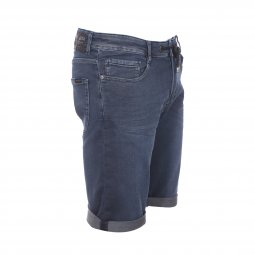 Bermuda Teddy Smith Scotty 2 en jean bleu foncé