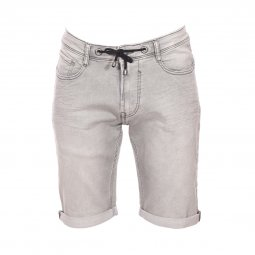 Bermuda Teddy Smith Scotty 2 en jean gris clair