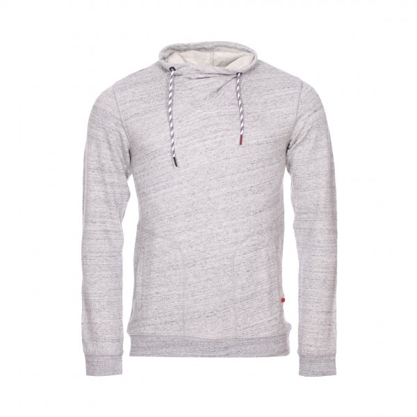 Sweat col boule Teddy Smith Sugar en coton mélangé gris chiné