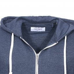 Sweat zippé à capuche Gelly Teddy Smith bleu indigo chiné