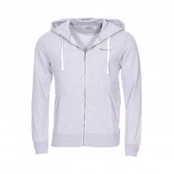 Sweat zippé à capuche Gelly Teddy Smith gris clair chiné