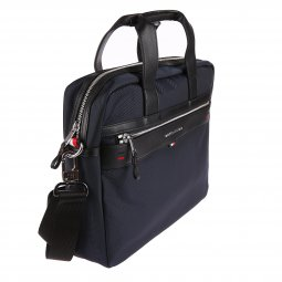 Porte-ordinateur/documents Tommy Hilfiger Elevated en toile bleue marine
