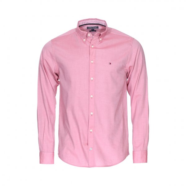 Chemise droite Tommy Hilfiger Two Tone Dobby en coton rose