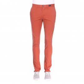 Pantalon Tommy Hilfiger Denton Chino en coton pima stretch brique