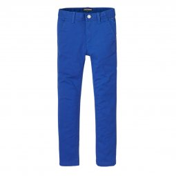 Pantalon chino Tommy Hilfiger Junior Ame Slim en coton stretch bleu électrique